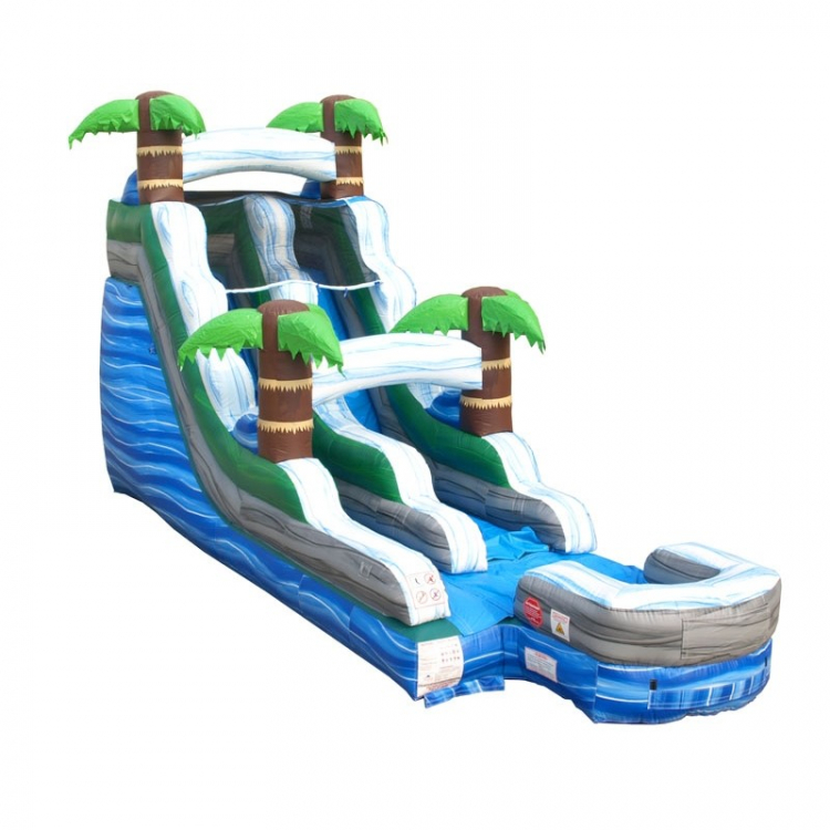 15' Tropical Marble Water Slide