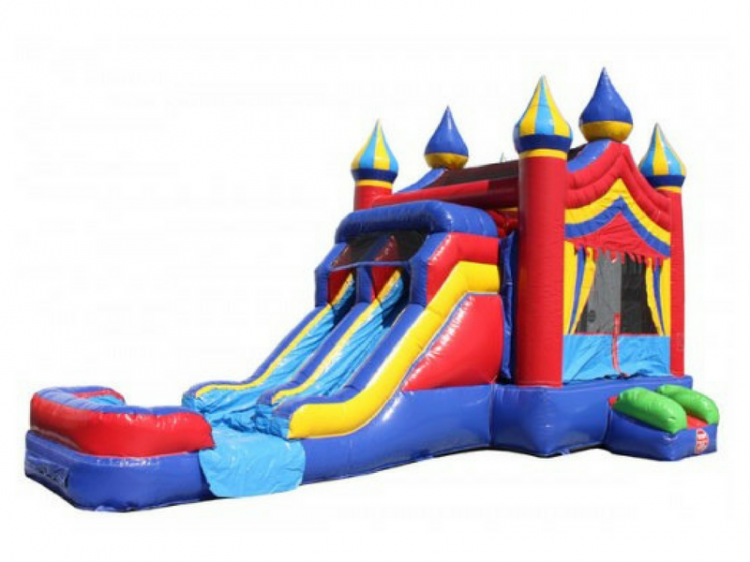 Circus Carnival Water Slide Bounce House Combo