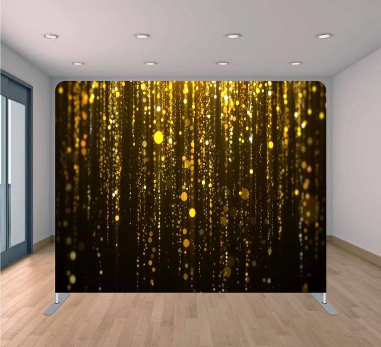 Black & Gold Sparkles Backdrop