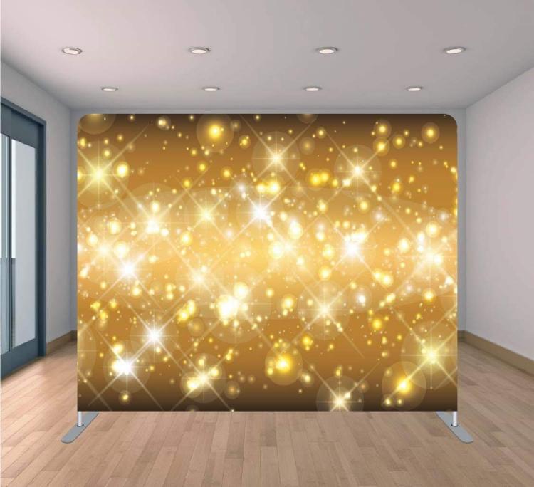 Gold Sparkles Backdrop