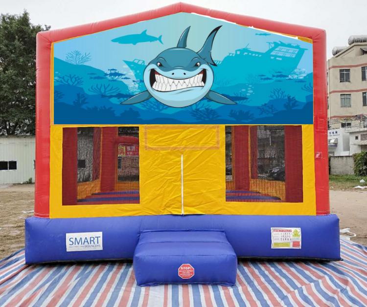 15x15 Shark Bounce House