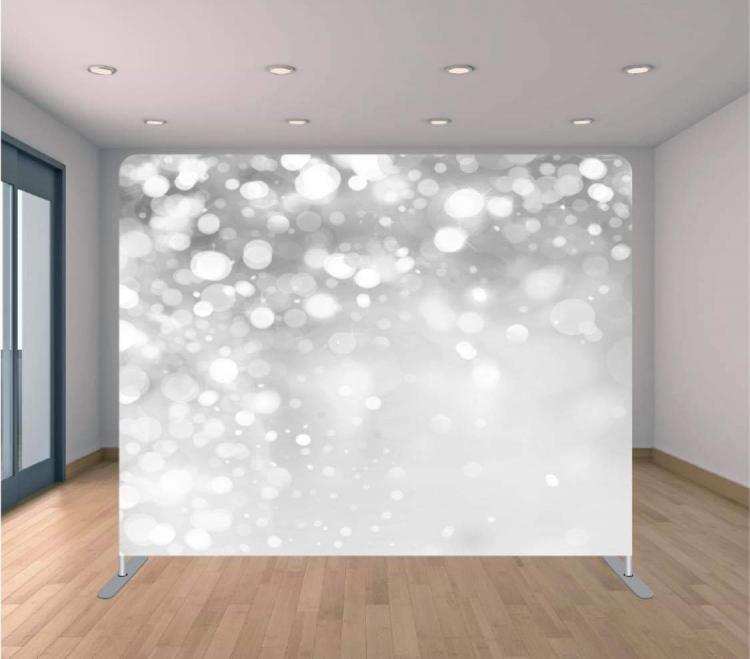 Silver Sparkles Backdrop