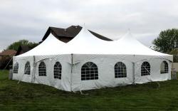 40x40 High Peak Frame Tent